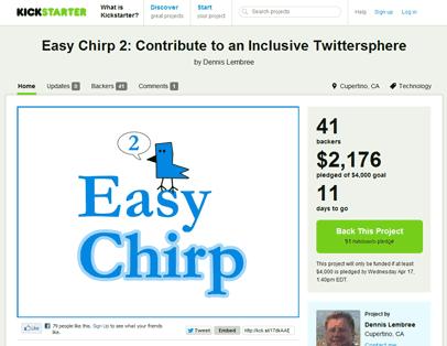 Easy Chirp Kickstarter