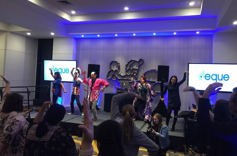 Karaoke at CSUN17, Makoto and Matt lead C-S-U-N