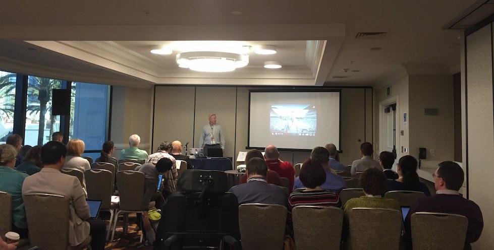 Terry Thompson speaking on audio description at CSUN17