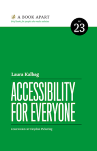 book cover: Accessibility For Everyone