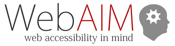 WebAIM web accessibility in mind